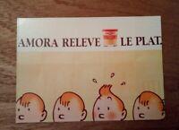 Carte postale publicitaire TINTIN AMORA