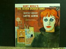 LOTTE LENYA  Kurt Will's Seven Deadly Sins  LP  NEAR-MINT !