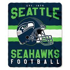 "NFL Seattle Seahawks Singular Design Large Soft Fleece Throw Blanket 50""X60"""