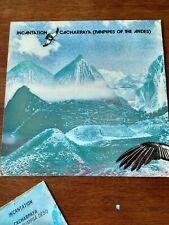 """Incantation 12"""" Stereo Vinyl LP Cacharpaya (Pan Pipes Of The Andes) 1982 +free 7"""