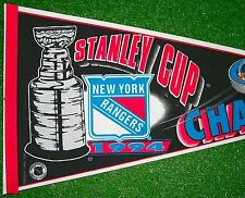 1994 NY New York Rangers Stanley Cup Champions NHL Official Hockey Pennant - New