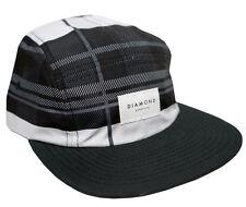 Diamond Supply Co Stone Cut Plaid 5 Panel Camper Hat Strapback Cap Lid Black