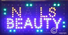 Flashing NAILS BEAUTY led new window Shop signs