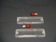 TOYOTA MR2 Mk1 AW11 CLEAR FRONT INDICATOR LENSES + AMBER BULBS