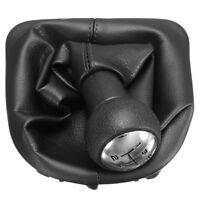 5 Pommeau Levier Vitesse Soufflet Couverture Cuir PU pour PEUGEOT 207 307 CC 308