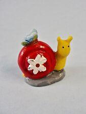 Fairy Garden Miniature Decor *Snail W/ Butterfly Flower* Resin Figure Brand New
