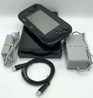 Nintendo Wii U Deluxe 32GB Console WUP-101 & GamePad WUP-010 w/Cables HDMI Cord