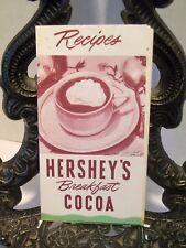 1948 Hershey's Cocoa Recipe Booklet Hot Breakfast Drink Pie Fudge Custard Cake