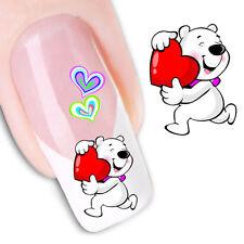 Pegatinas  stickers Nº 18  Osito Love  decoración de uñas, nail art FX1200 uñas