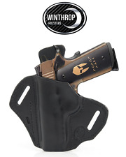 """1911 4"""" With or w/o lasergrips M1913 Picatinny Rail OWB Shield Holster LEFT Hand"""