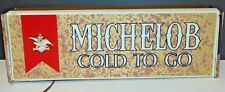 Michelob Beer Cold To Go 1976 Lighted Sign Advertising Anheuser Busch