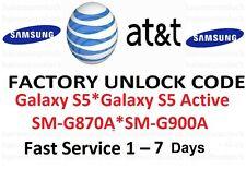 AT&T Unlock Code Samsung Galaxy S5 Active Mini SM-G870A SM-G900A SM-G800A att