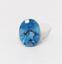 Oval Cut Blue Topaz, 4.0 CT, 11 mm x 9 mm