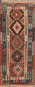 Southwestern Reversible Kilim Hand-woven Geometric Oriental Area Rug 3x6 Carpet