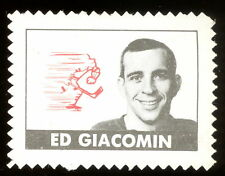 1969 70 TOPPS OPC O PEE CHEE HOCKEY ED GIACOMIN STAMP  EX+ N Y RANGERS RED WING
