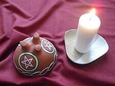Ton Räucherschale Pentagramm Groß Räuchergefäße incense smoked bowl Smoking