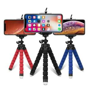 Tripods phone Mobile camera holder Clip smartphone mono pod tripe stand Blue