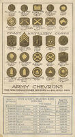 7x5 Gloss Photo ww1D94 World War 1 Army Chevrons