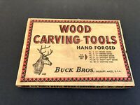 Vintage Buck Bros Wood Carving Tools Chisel Gouge Set w Original Box Made in USA