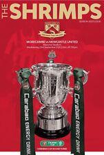Morecambe v Newcastle United 2020/21 EFL Cup brand new football programme