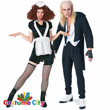Couples Official Rocky Horror Riff Raff & Magenta Halloween Fancy Dress Costume