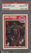 1989 Fleer Basketball #46 James Edwards Detroit Pistons PSA 10 GEM MT