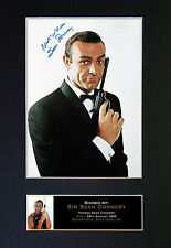 SEAN CONNERY James Bond 007 Signed Mounted Autograph Photo Print (A4) No130