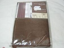 New ESTEX ADELA FAUX SILK GROMMETS WINDOW PANEL Chocoalte BROWN 54x90