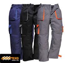 Portwest Texo Contraste Pantalones TX11 S-3XL Negro, Azul marino, Gris
