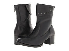 WOMENS HARLEY DAVIDSON DORINE BOOTS D83285 BLACK LEATHER SIZE 9 NEW WITH TAGS