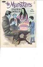 Vintge Uncut 1961 Munsters Paper Dolls Org Sz Hd~Laser Reproduction~Lo Pr~Hi Q
