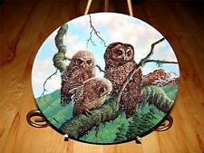 """Woodland Watch: Spotted Owls"" UNDER MOTHER'S WINGS Knowles OWL Plate Collection"