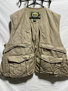 CABELAS Hunting Shooting VEST Game Pouch Shell MENS XL Tan Duck Hunt Pocket