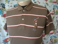 Polo By Ralph Lauren Big Pony Logo Rugby style brown Collar Shirt Sz L