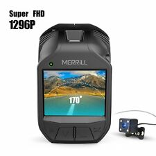 WiFi Dual Dash Cam, MERRILL Full HD 1920 x 1296P Video Audio Car Camera Record
