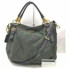 Prada Bolso de mano verdes 705528 De Nylon