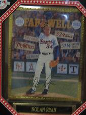 Nolan Ryan Sports Impressions Plaque. Nib. Numbered Edition Farewell