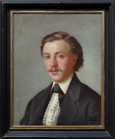 American Antique Oil Painting 19th Century Portrait of Gentleman