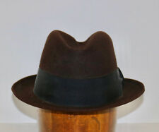 Brooks Brothers vintage brown fedora hat 7 1/8