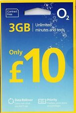 x2 O2 02 sim card £10 Data BUNDLE minutes Text NEW Bundle Pay as You Go