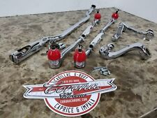NEW Chrome RED Steering Linkage Set 55-57 CHEVROLET Bel Air