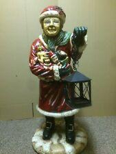 Mrs. Santa Claus Indoor Outdoor Statue Fiberglass 36 inch FULL COLOR Lantern