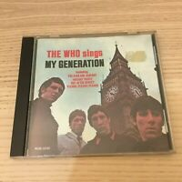 The Who _ The Who Sings My Generation _ CD Album _ MCA 1988 USA