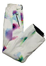 KJUS Ski Snowboard Winter Pants Womens Size S - 36 White Tie Dye Insulated