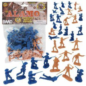 "BMC 40022 ""Alamo Plastic Army Men Texas vs Mexico"" 37pc 1/32 Plastic Toy Soldier"