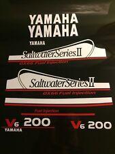 Yamaha 200 OX66 Saltwater Series II decal kit  white and red set  free ship