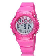 Ohsen Children Girls Rose Red Date 12/24 Hours Digital Quartz Wrist Watches Gift