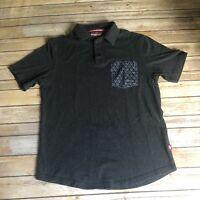 Ecko Unlimited Men's Black Polo Shirt Size Large