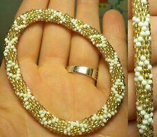 Bracciale nepalese perle vetro - Kumihimo hand made glass nepal bracelet