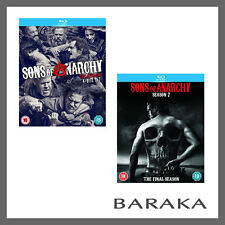 SONS OF ANARCHY COMPLETE SEASON SERIES 6 & 7 Blu ray RB box set not a DVD